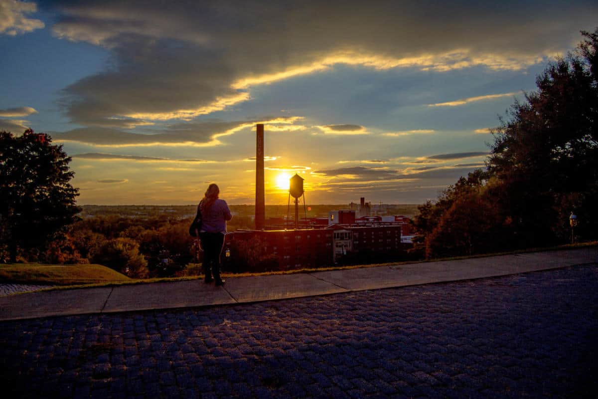 Sunset at Libby Hill in Richmond